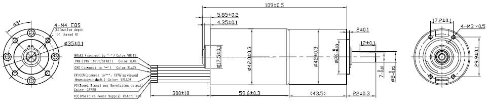 b4260g 无刷直流减速电机