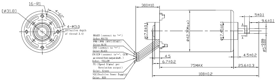 b4275m 直流无刷电机